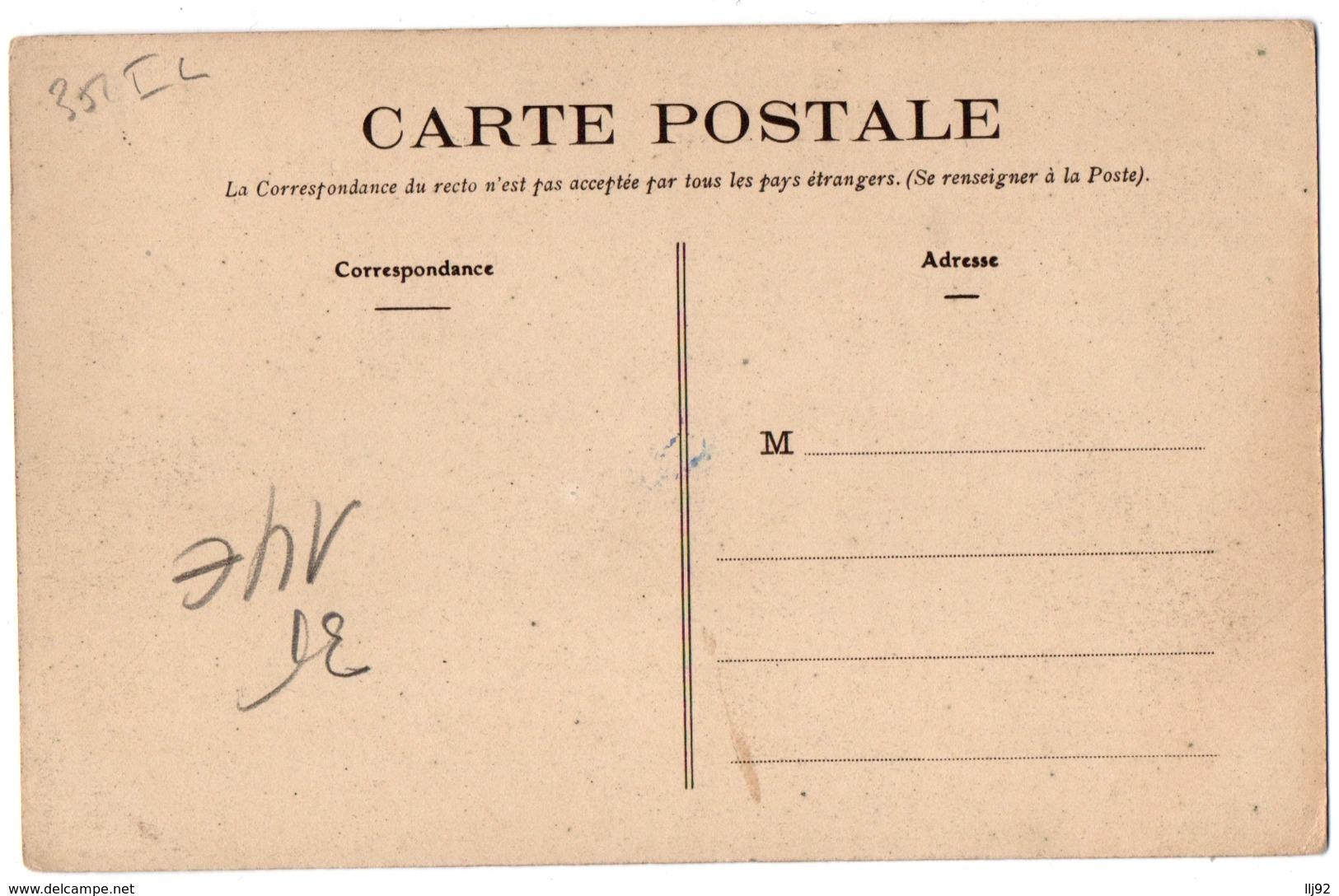 CPA 35 - RENNES (Ille Et V.) - 1137. La Rue Duguesclin Et L'Eglise St-Sauveur - Rennes