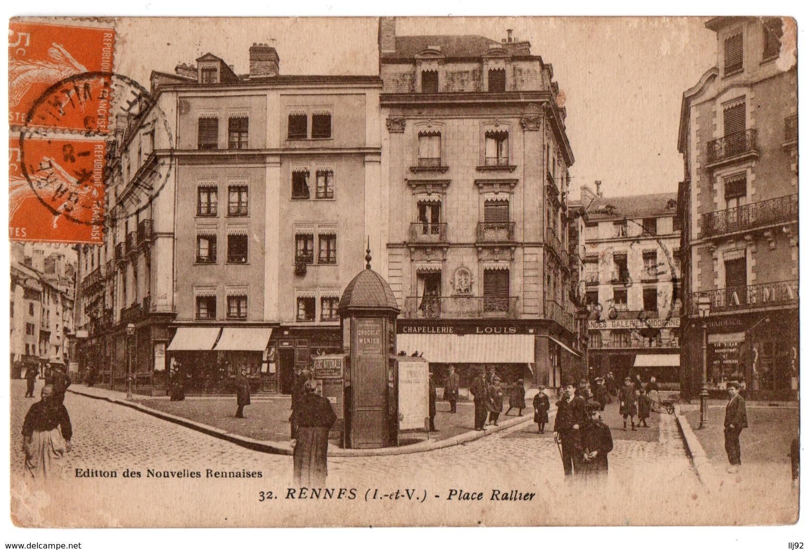 CPA 35 - RENNES (Ille Et Vilaine) - 32. Place Rallier - Rennes