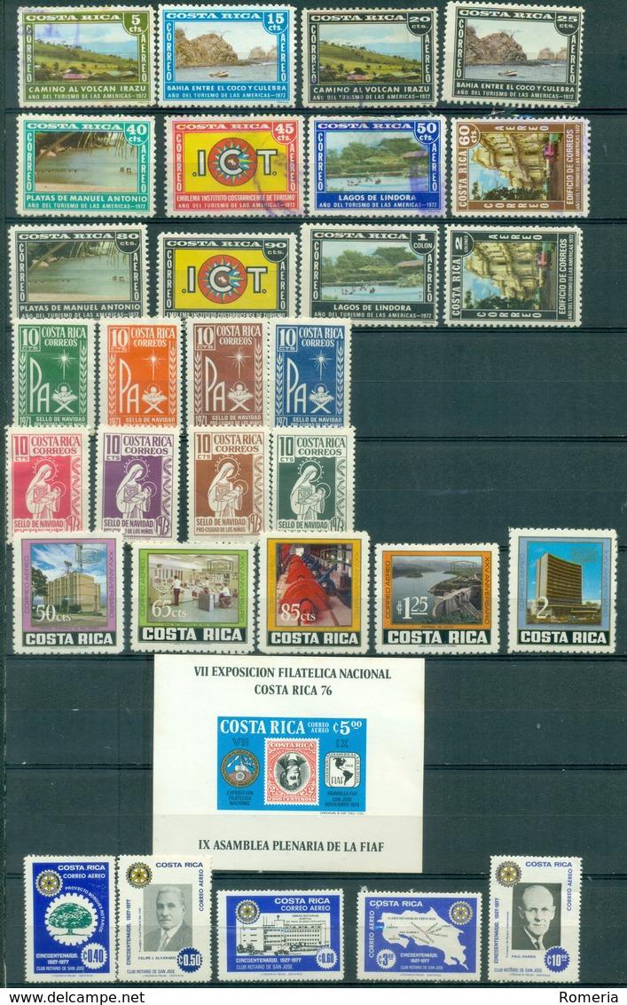 Costa Rica - 1959/1977 - Lot Timbres **  * TC Et Oblitérés - Nºs Dans Description - Costa Rica