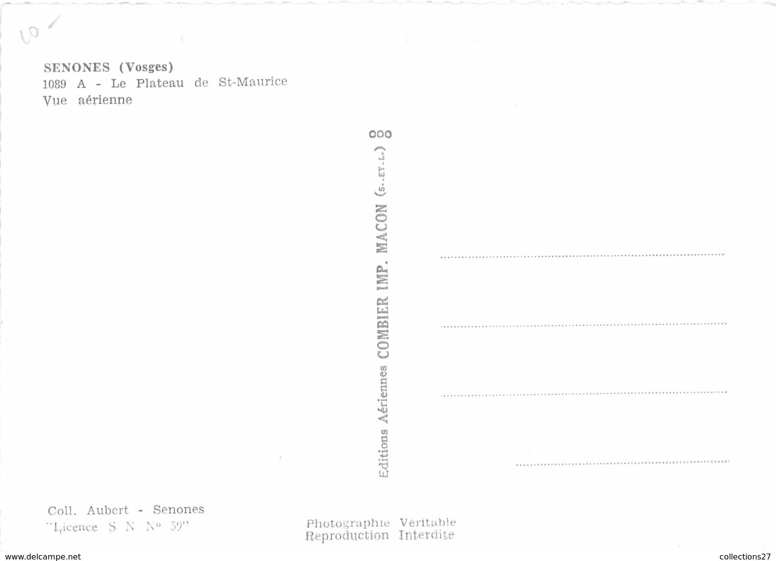 88-SENONES- VUE AERIENNE PLATEAU DE ST-MAURICE - Senones