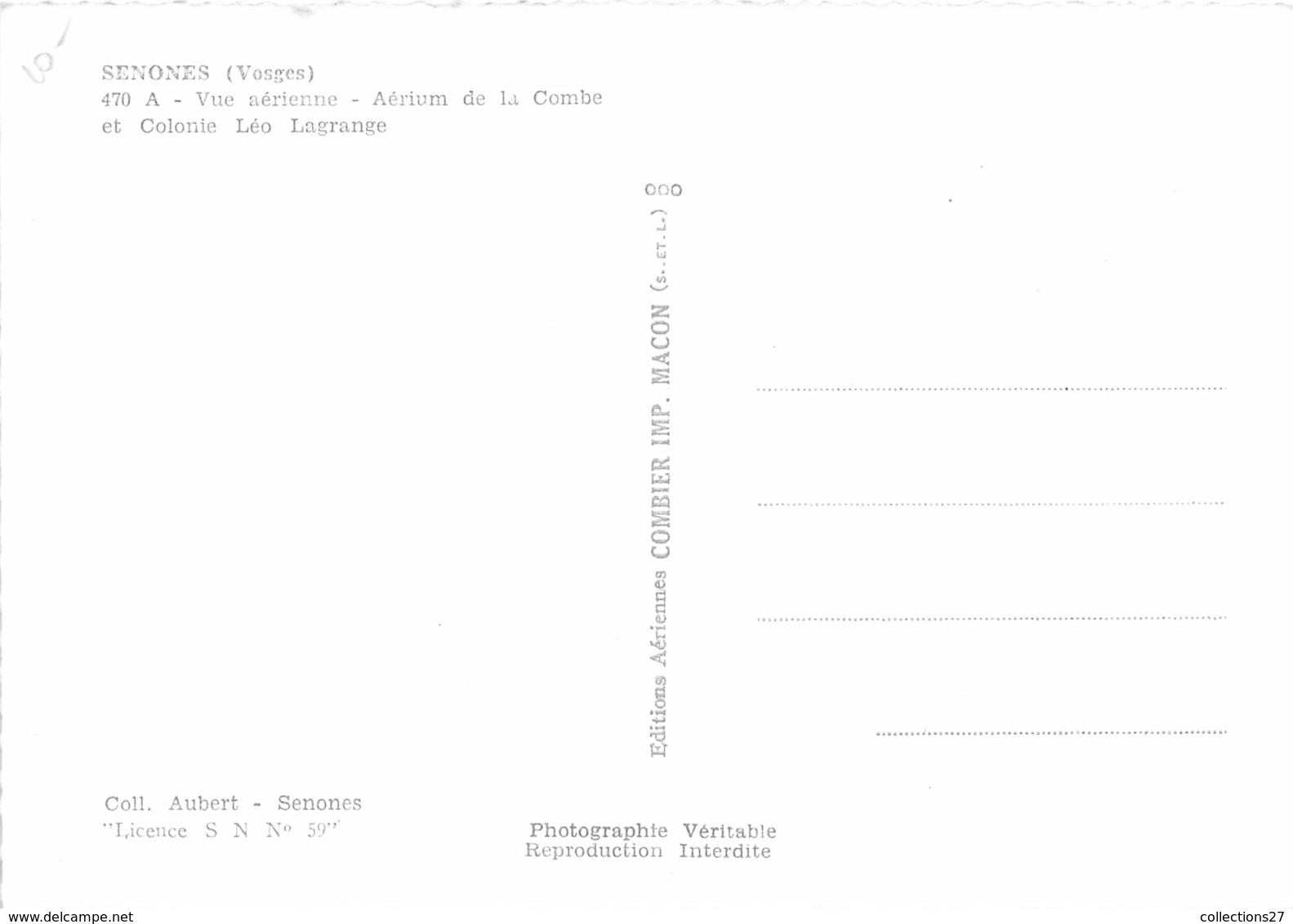 88-SENONES- VUE AERIENNE - AERIUM DE LA COMBE ET COLONIE LEO LAGRANGE - Senones