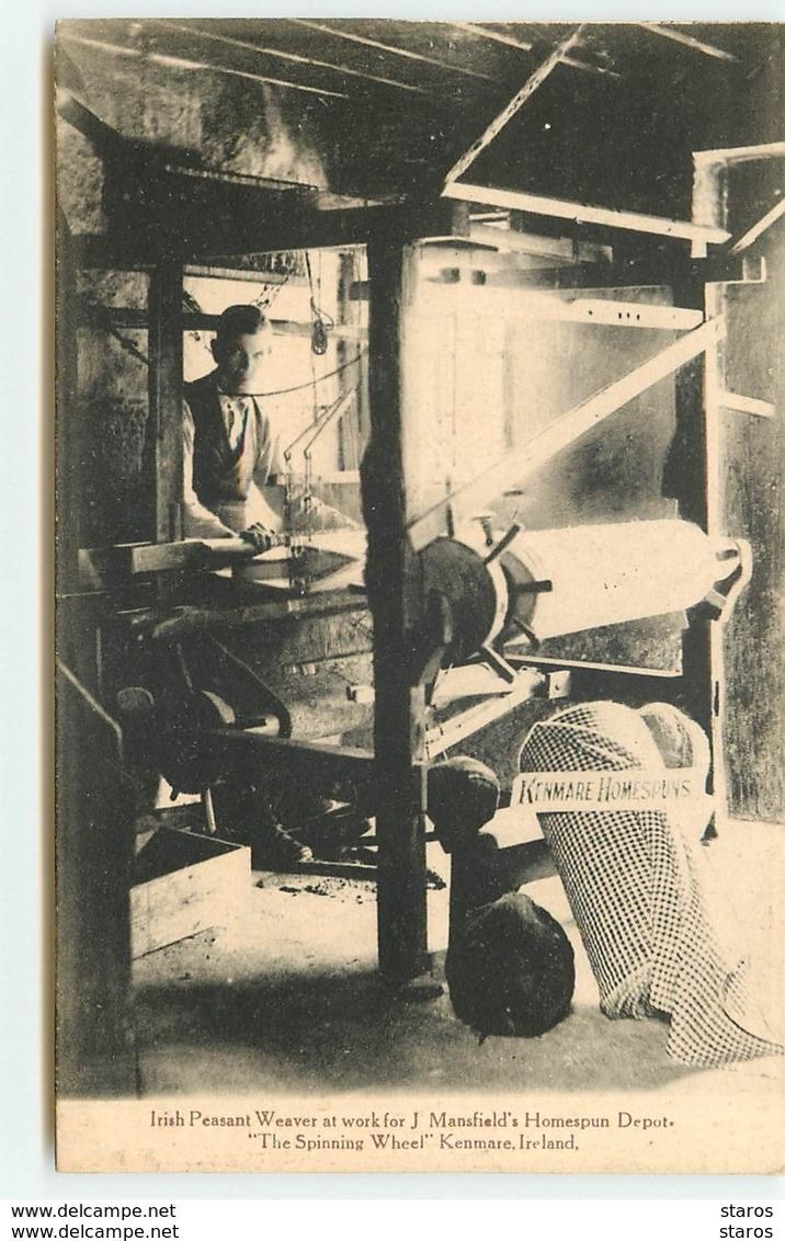 Irish Peasant Weaver At Work For J. Mansfield's Homespum Depot - Irlande