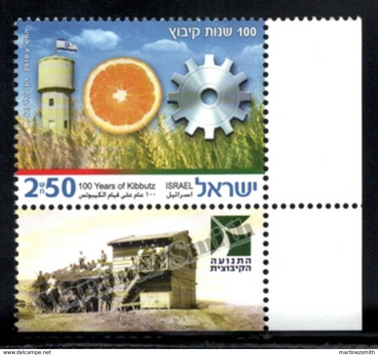 Israel 2010  Yv. 2028, Kibboutz Centenary – Tab - MNH - Nuevos (con Tab)
