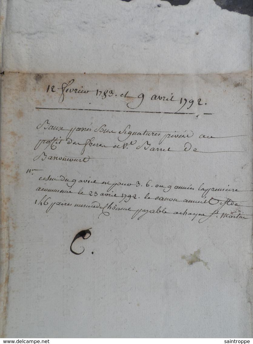 Grand Document De 1791.Loi / Brefs, Bulles, Constitutions, Rescrits, Décrets & Autres Expéditions. - Documentos Históricos