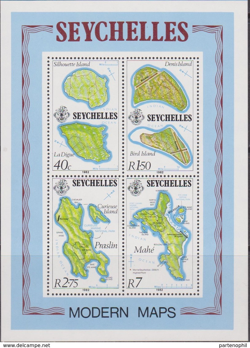Seychelles - Modern Maps Sheet  MNH - Geografia