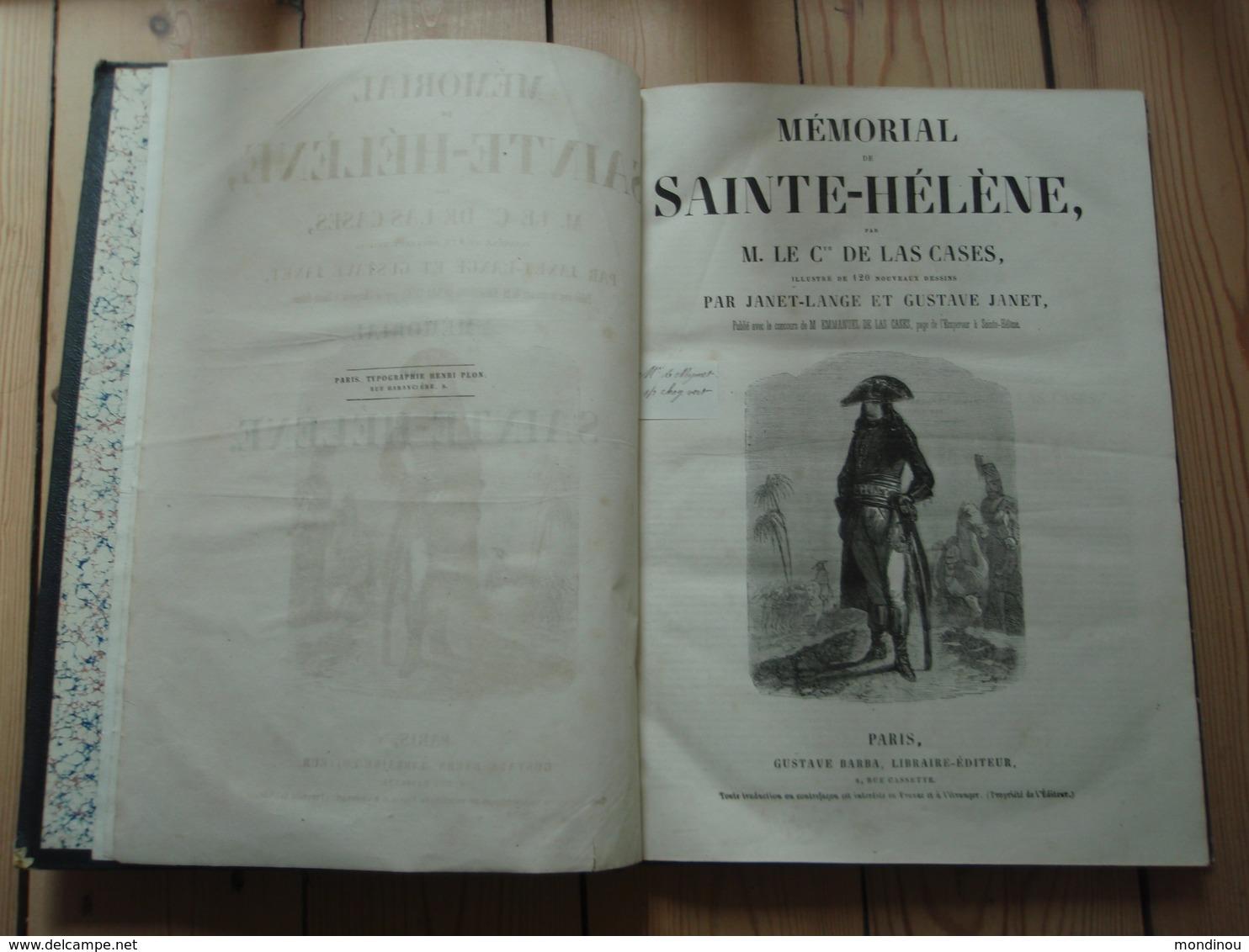 Mémorial De Sainte-Hélène Par M. Le Cte De Las Cases. Illustré De 120 Nouveaux Dessins Par Janet-Lange Et Gustave Janet - Livres