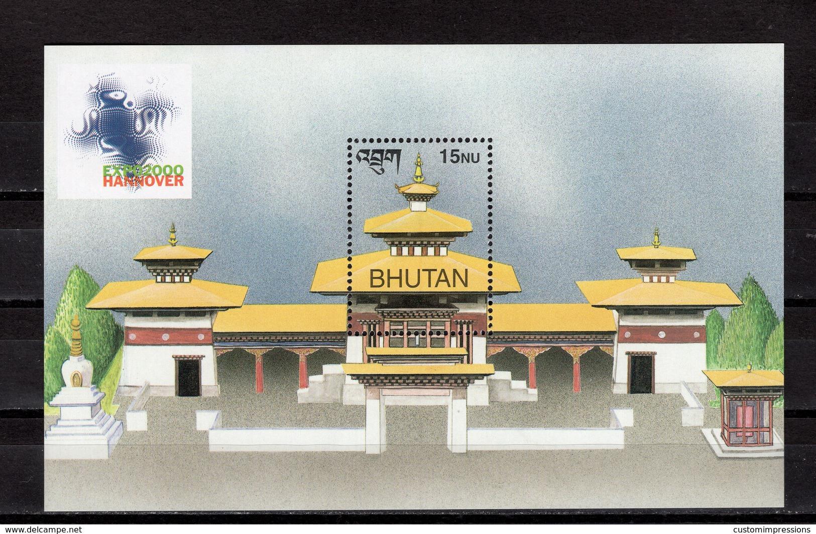 BHUTAN - 2000 HANNOVER WORLD'S FAIR  M1168B - 2000 – Hanover (Germany)