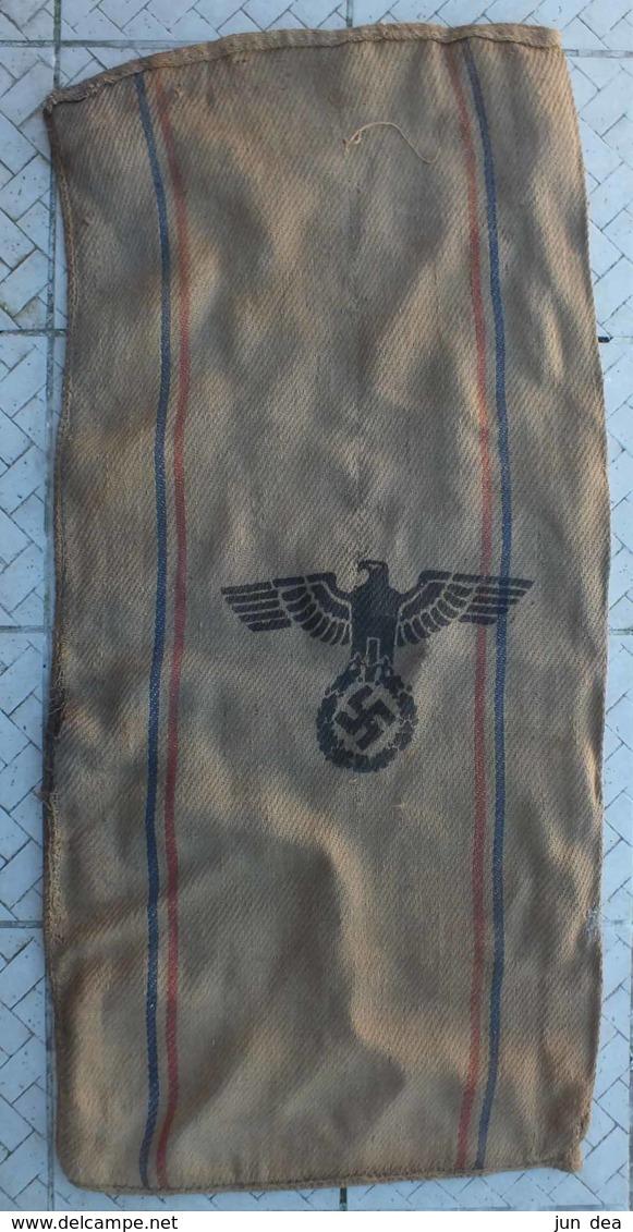 ANCIEN SAC DE JUTE ALLEMAND H.V.ST - WW2 - 130 PAR 60 CM - Equipement
