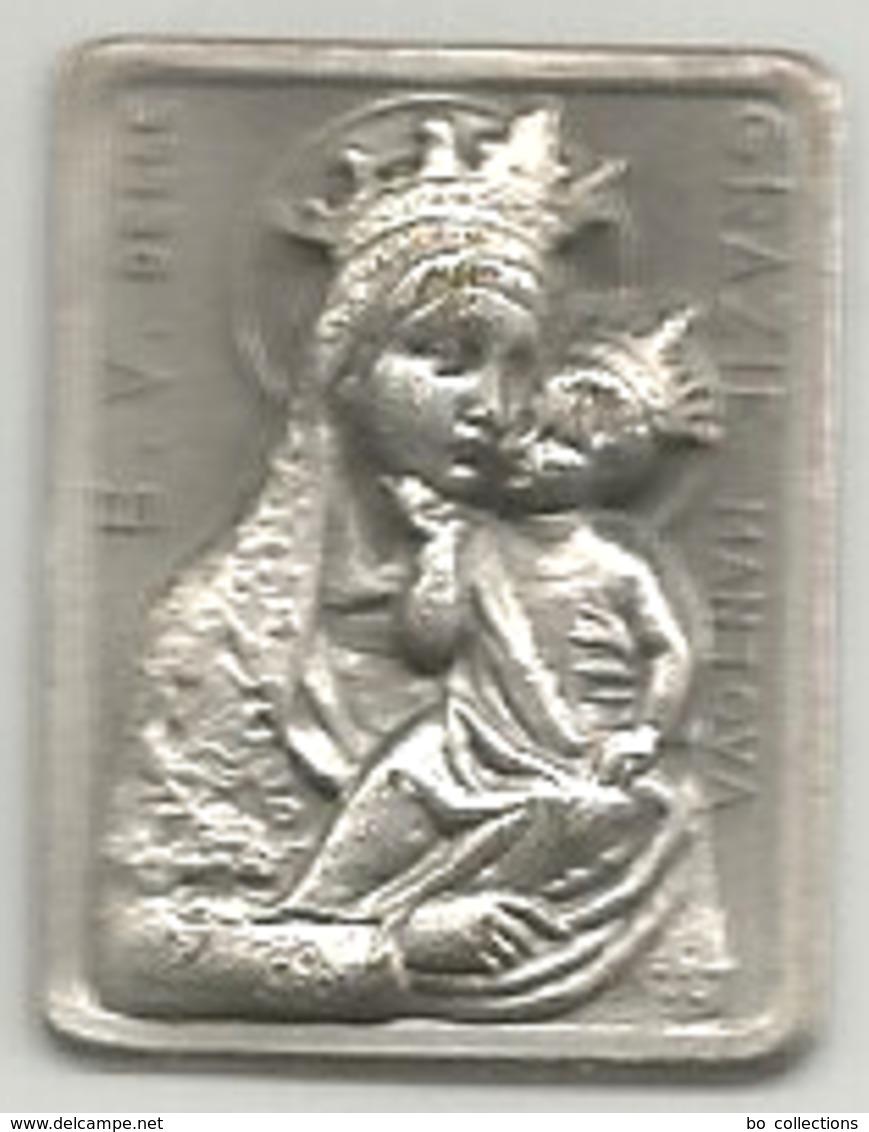 Mantova, Religione Cattolica, Beata Vergine Delle Grazie, Placchetta Ag. Cm. 1,8 X 2,3, - Altri