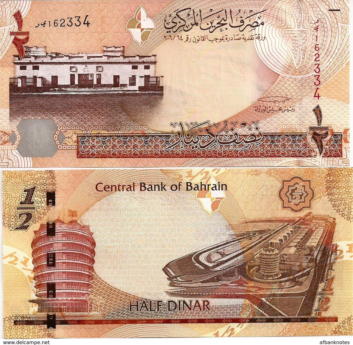 BAHRAIN       ½ Dinar       P-25       L. 2006 (2008)       UNC  [ 1/2 - Half ] - Bahrein
