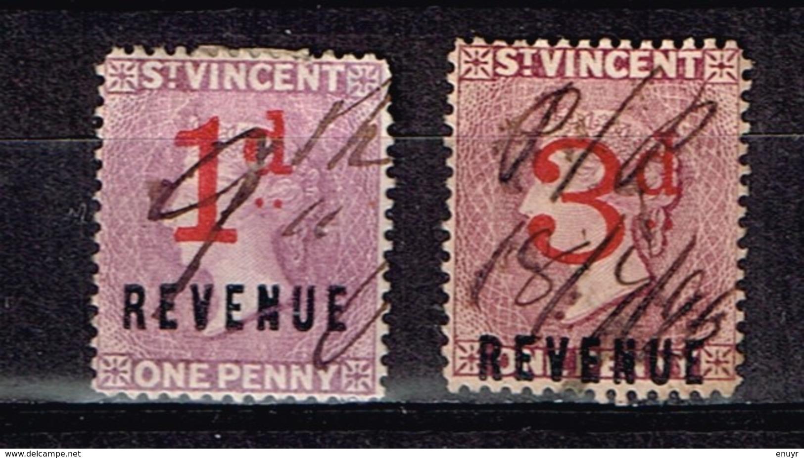 Lot St-Vincent Anciens Timbres à Identifier - Sammlungen (ohne Album)