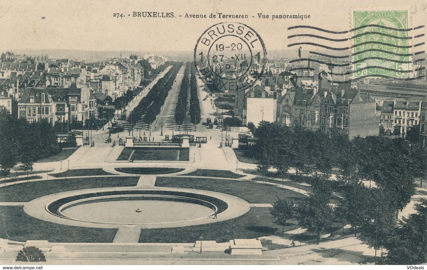 CPA - Belgique - Brussels - Bruxelles - Avenue De Tervueren - Vue Panoramique - Etterbeek