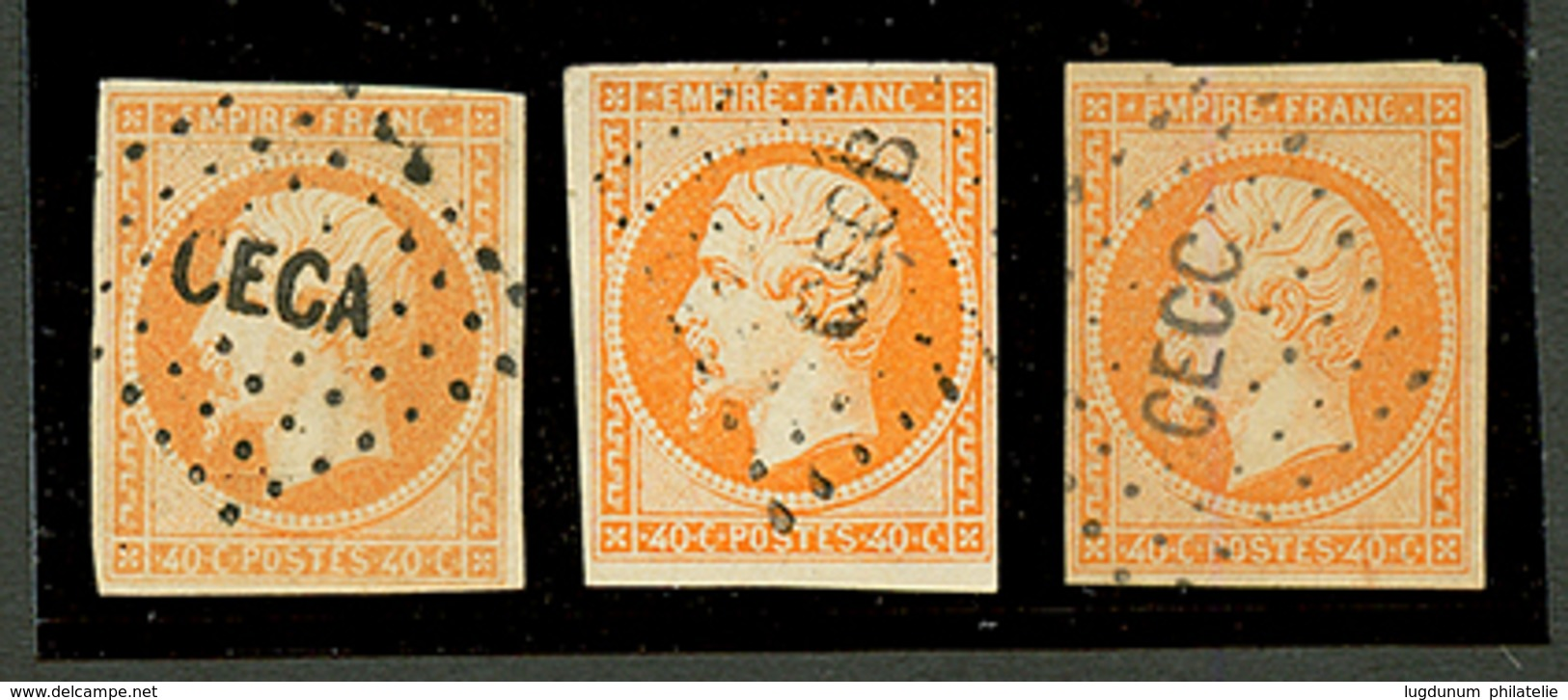 CORPS EXPEDITIONNAIRE DE CHINE : 40c(n°16)x3 Obl. CECA, CECB Et CECC. Superbe. - Frankrijk