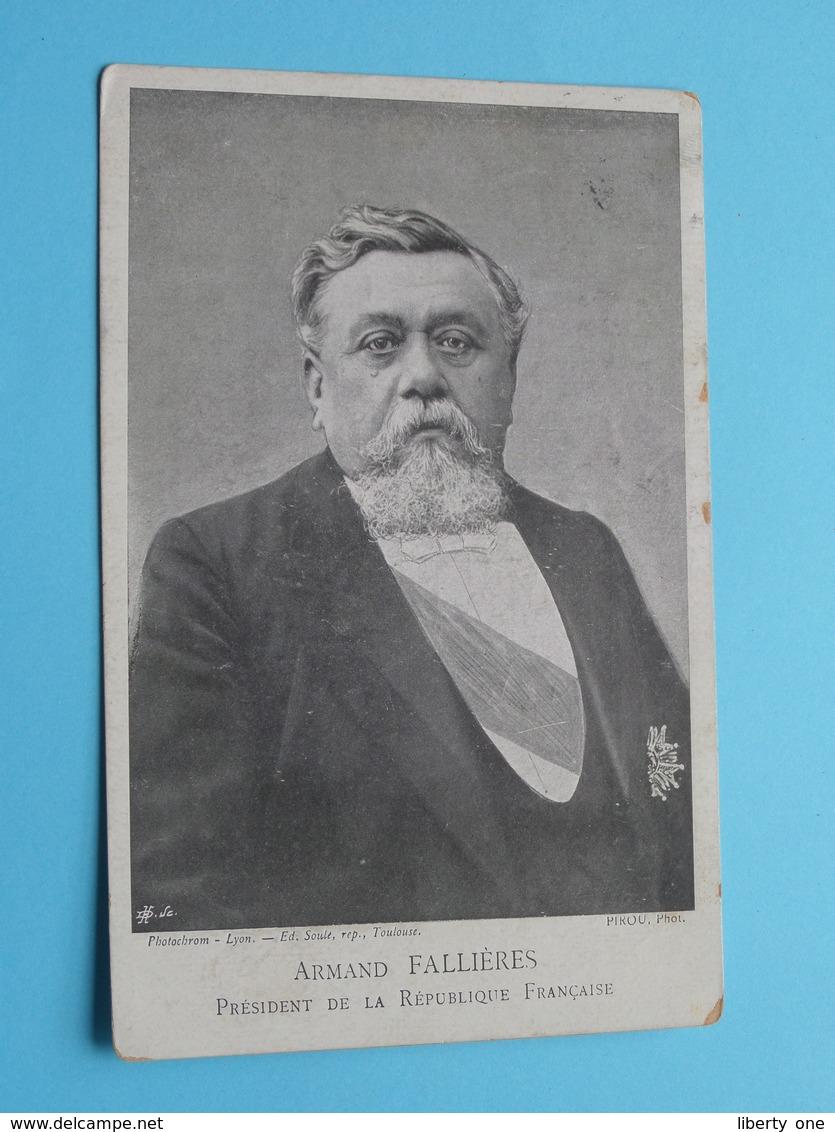 Armand Fallières Président De La Republique Française ( Photo Pirou / Ed. Soule ) Anno 190? > Anvers ( Voir Photo ) ! - Hommes Politiques & Militaires
