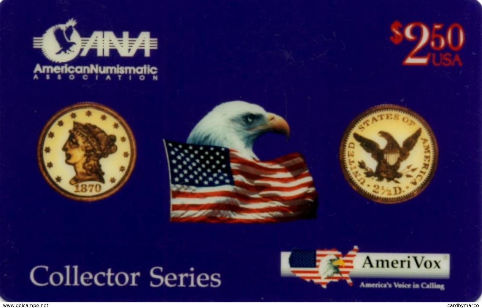 *U.S.A. - AMERIVOX* - Scheda NUOVA (MINT) - Amerivox