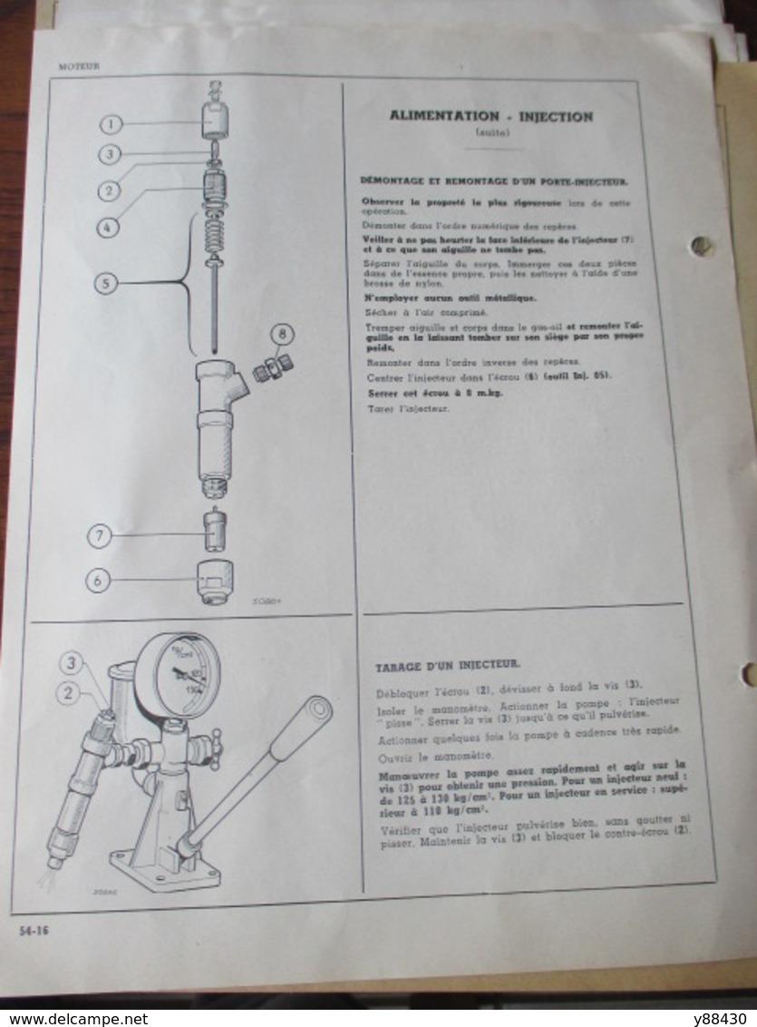 RENAULT - TRACTEURS AGRICOLES - D.22 Type R.7052  &  D.35 Type R.7050 - Mise à Jour De Avril 1961 - 14 Pages - 10 Photos - Máquinas