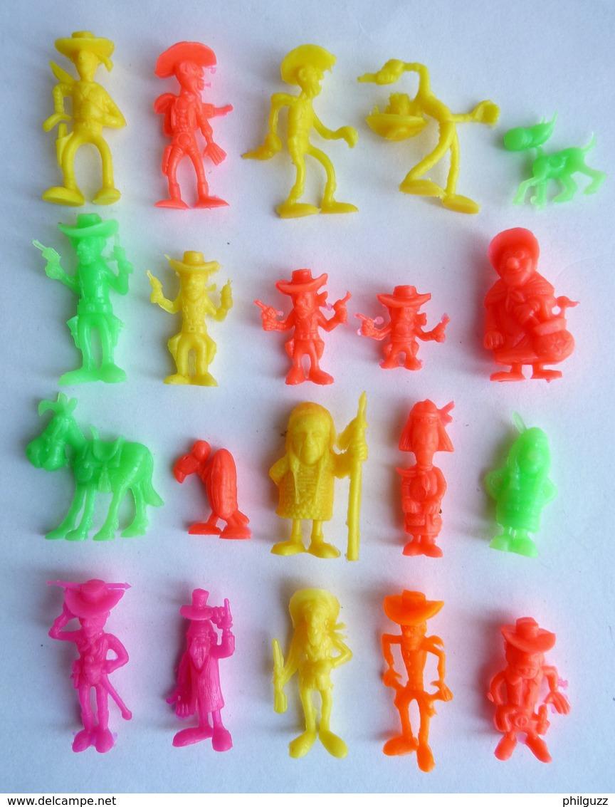 RARE FIGURINE PUBLICITAIRE COMANSI SERIE COMPLETE DES 20 FIGURINES LUCKY LUKE 1980 - FIGURINE - Figurines
