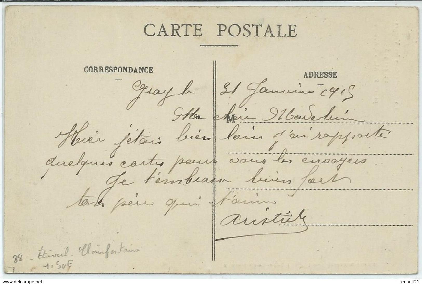 Etival Clairefontaine-La Guerre Dans Les Vosges 1914-1915-Étival L'Abbaye (CPA) - Etival Clairefontaine