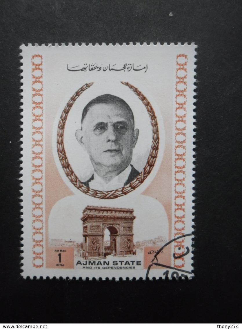 AJMAN Général De Gaulle Oblitéré - Ajman