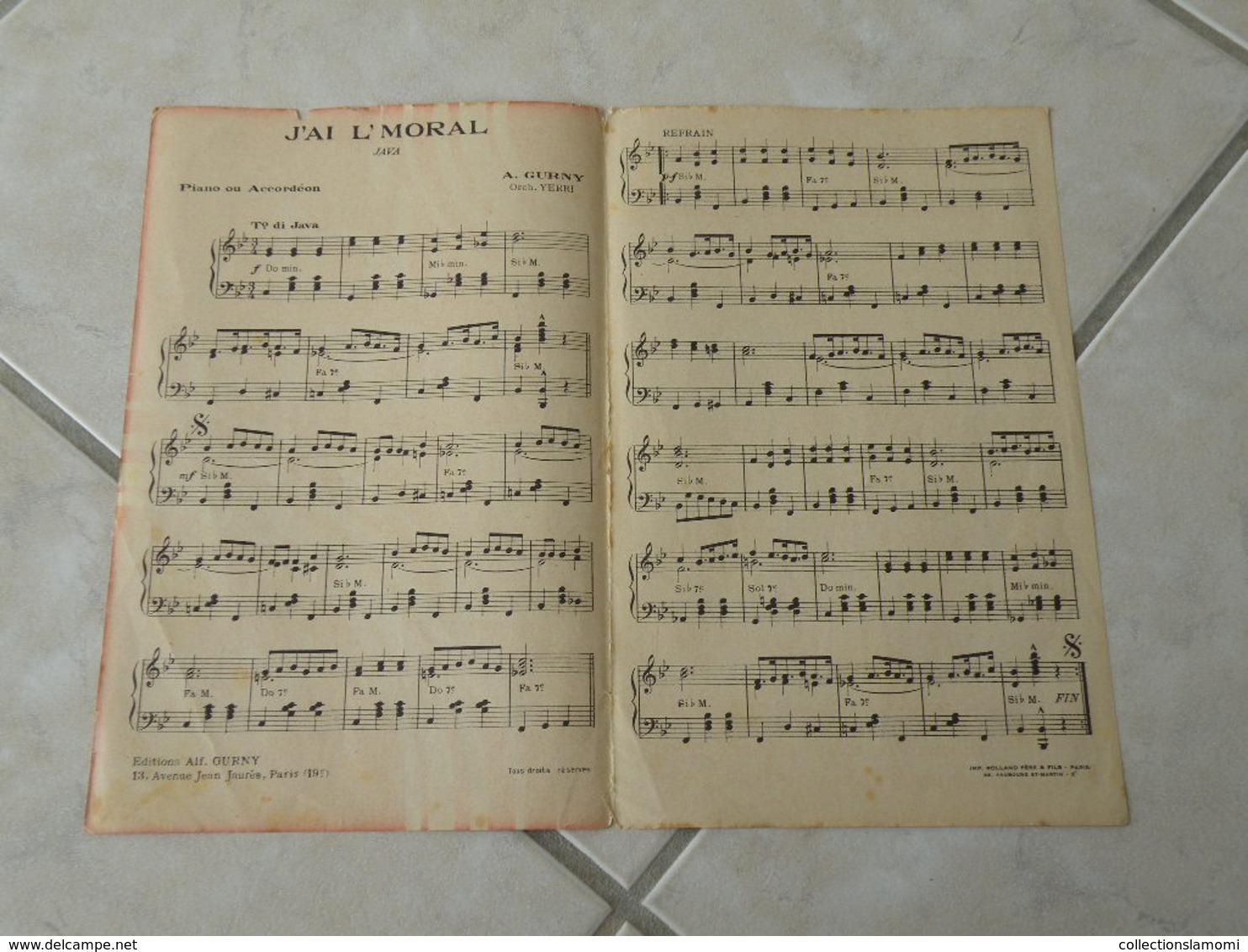 J'ai L'moral (Java)-(Paroles)-(Musique Alfred Gurny)Partition Pour Orchestre - Musique & Instruments