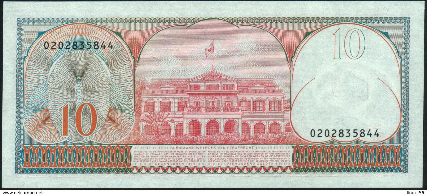 SURINAME - 10 Gulden 01.04.1982 AU-UNC P.126 - Surinam