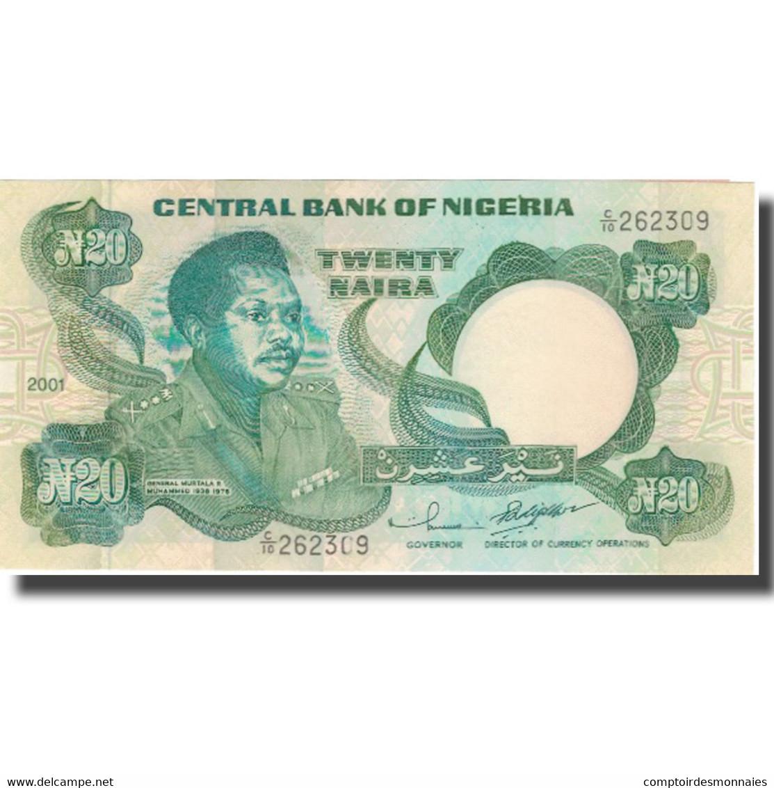 Billet, Nigéria, 20 Naira, 2001, 2001, KM:26g, SPL - Nigeria