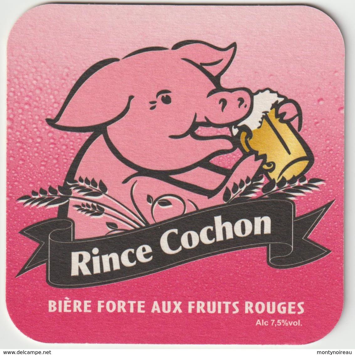 Sous-bocks - Bock :   Rince Cochon , Bière  Forte Aux  Fruits  Rouge , Blonde  Des  Flandres - Sous-bocks