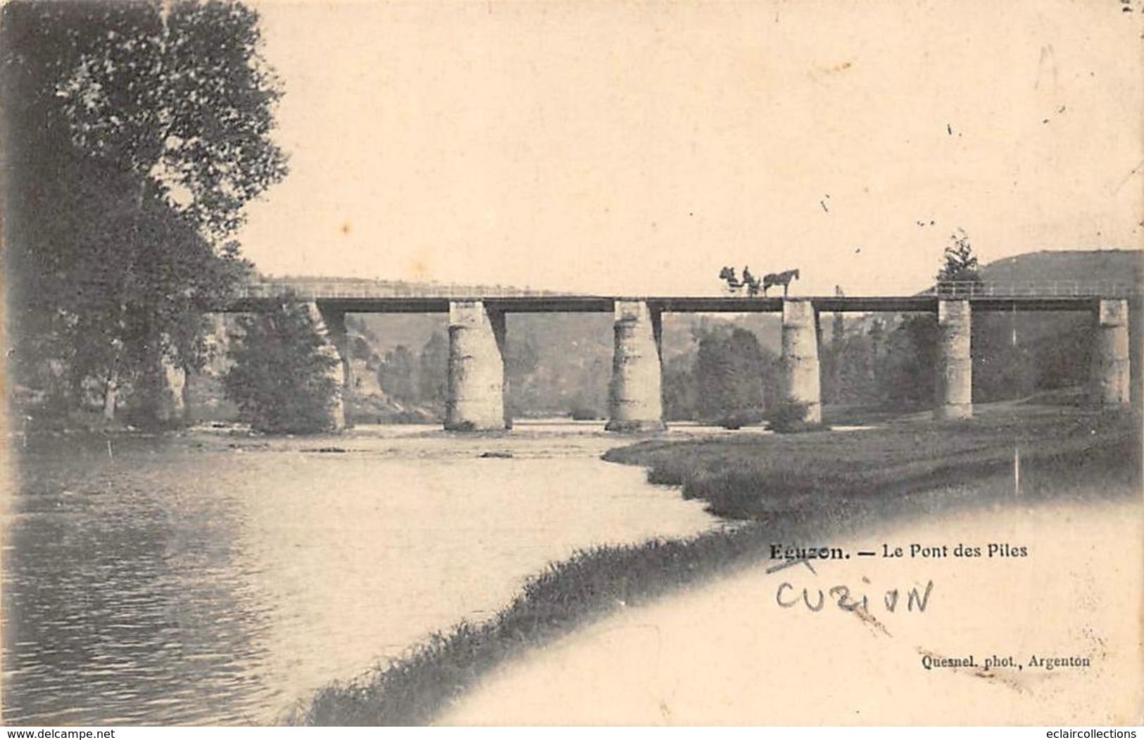 Cuzion         36       Le Pont Des Piles            (voir Scan) - France