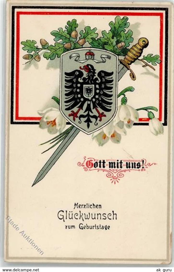 52332450 - Gott Mit Uns - Geburtstag - Wappen - Eicheln - Oorlog 1914-18