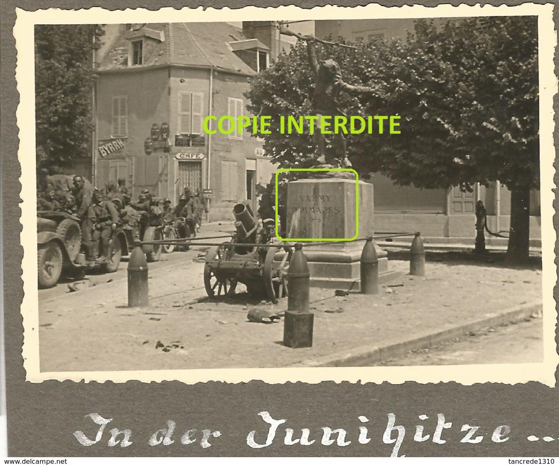 WW2 TOP PHOTO ORIGINALE Soldats Allemands à MERY SUR SEINE Entre Nogent Romilly & Arcis Sur AUBE 10 Près TROYES 1940 - 1939-45