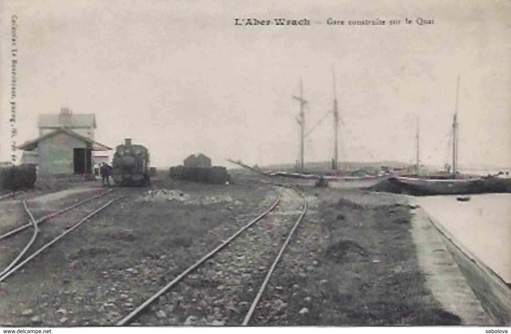 L'Aber -Wrach  Près De Brest Gare Avec Train - France
