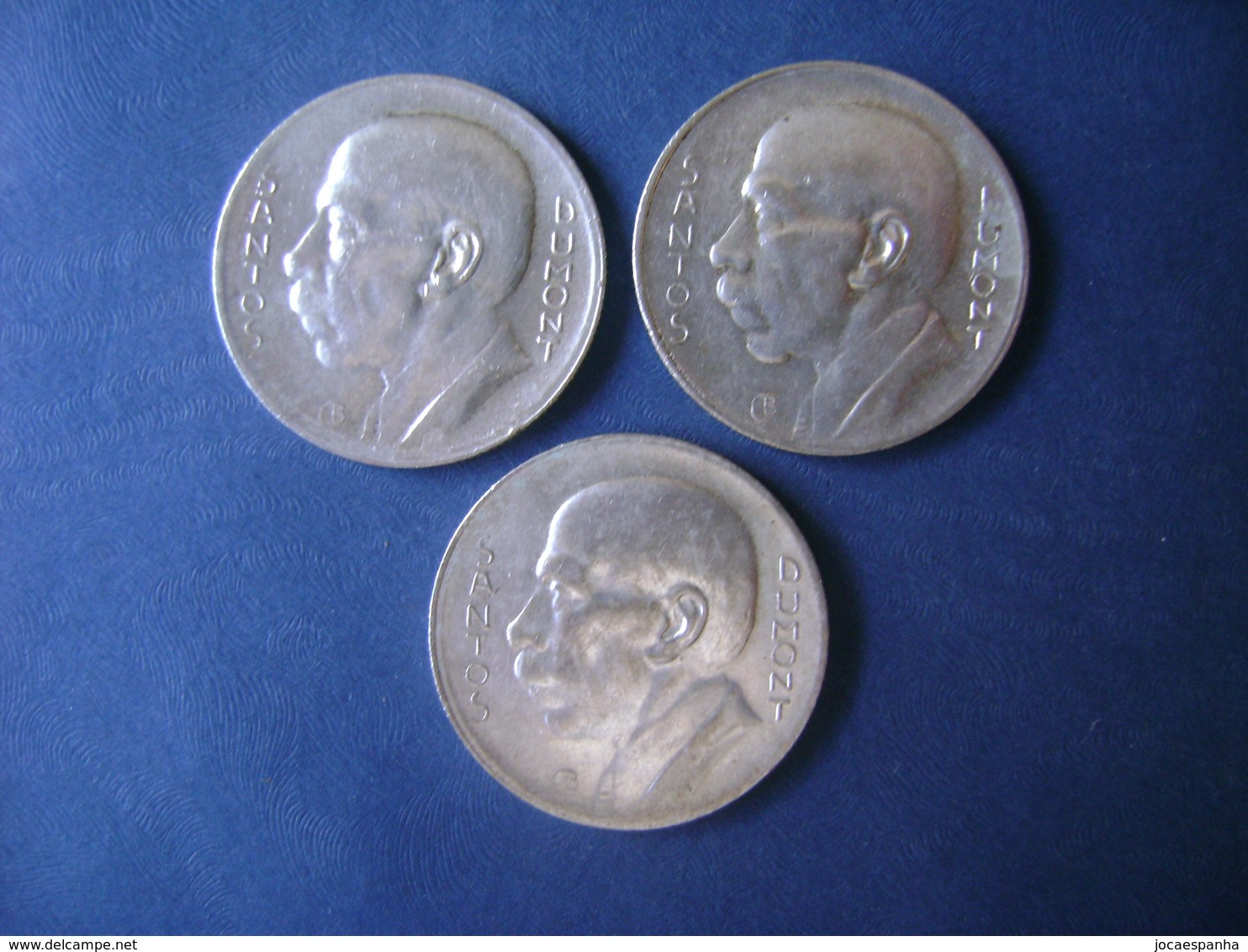 "BRAZIL / BRASIL - 3 COINS ""SANTOS DUMONT"", SILVER / PRATA , 1936, 1937 AND 1938 - Brésil"