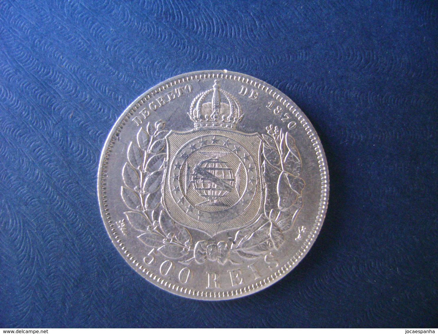 "BRAZIL / BRASIL - COIN ""500 REIS"", SILVER / PRATA , 1889 - Brazil"
