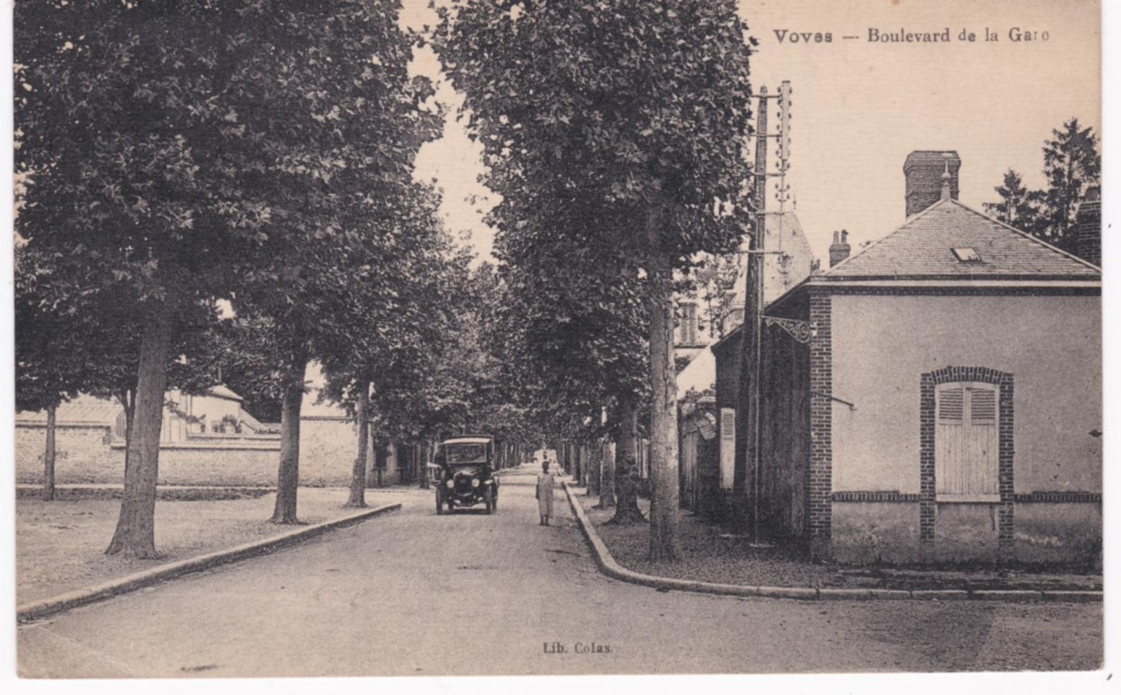 28 Eure Et Loir -  VOVES - Boulevard De La Gare - 1926 - Autres Communes
