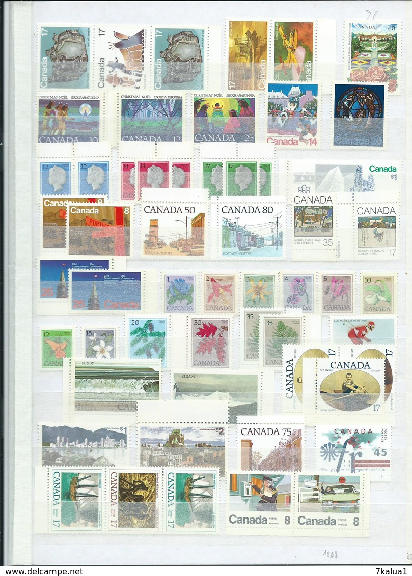 CANADA : Lot Neuf ** Sur 8 Pages. Départ 1 €. - Stamps