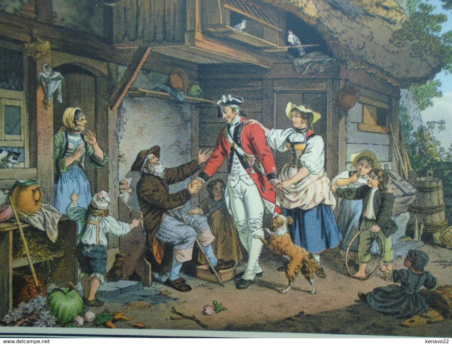 Carte Assez Rare De 1948 , Le Retour Du Soldat Suisse , De S. Freudenberger 1745 - 1801 - Suisse