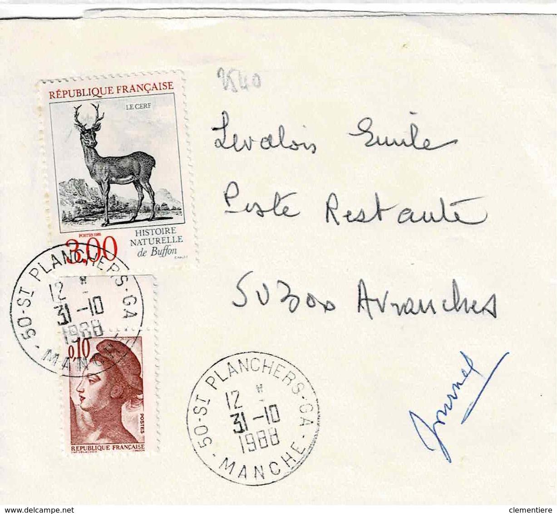 TP N° 2540 Seul  Sur Bande Journal De St Planchers C.A - 1961-....