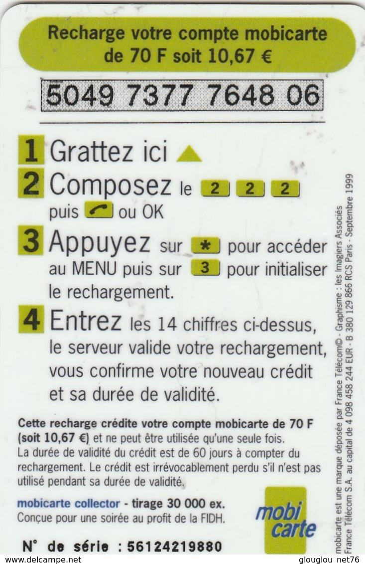 MOBICARTE...RECHARGE 70... LES HOMMES DANSENT LIBRES ET EGAUX - France