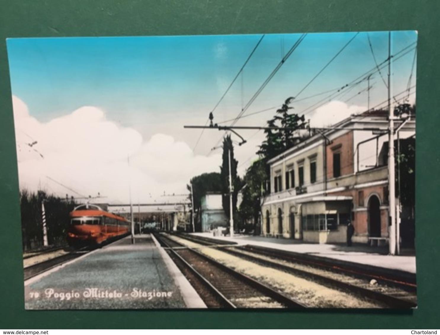 Cartolina Poggio Mirteto - Stazione - 1965 Ca. - Rieti