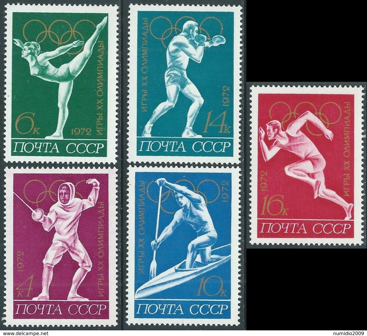 1972 RUSSIA OLIMPIADI DI MONACO MNH ** - UR20-6 - 1923-1991 URSS