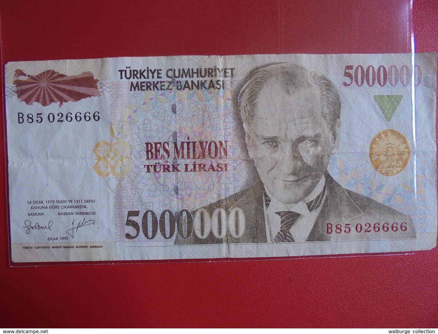 TURQUIE 5000.000 LIRASI 1970(97)  CIRCULER - Turquie