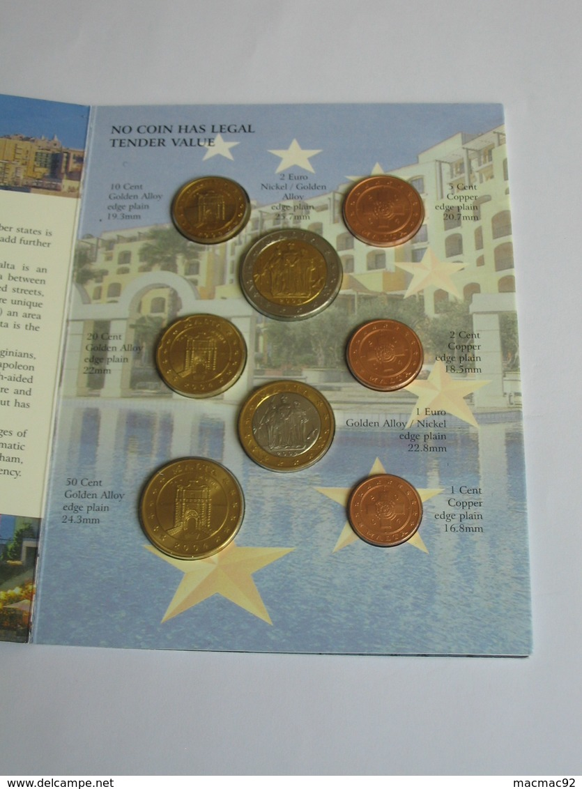 Coffret FDC Euro Patterns Set - Euro Prove - MALTE - MALTA  2004    **** EN ACHAT IMMEDIAT **** - EURO