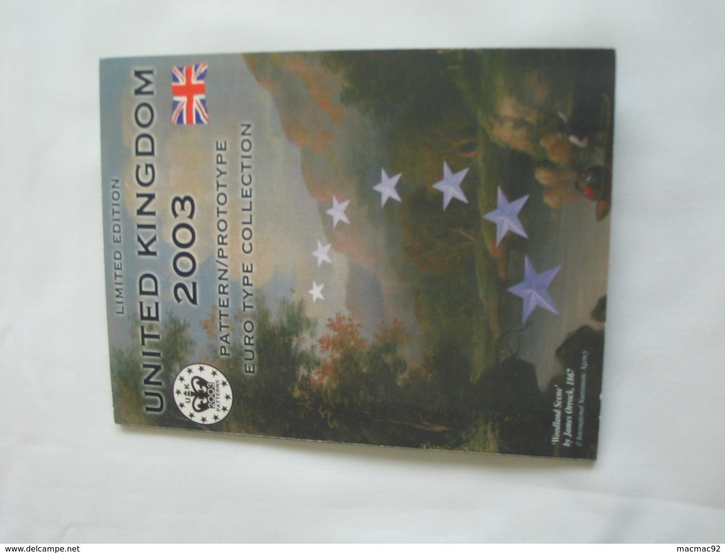 Coffret FDC Euro Patterns Set - Euro Prove - UNITED KINGDOM  - SCOTLAND 2003    **** EN ACHAT IMMEDIAT **** - Essais Privés / Non-officiels
