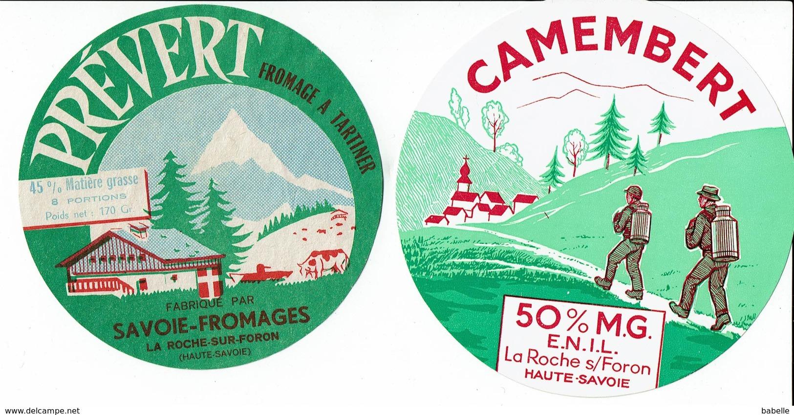 2 Et. Camembert Et Fromage à Tartiner - LA ROCHE SUR FORON - PREVERT - Fromage
