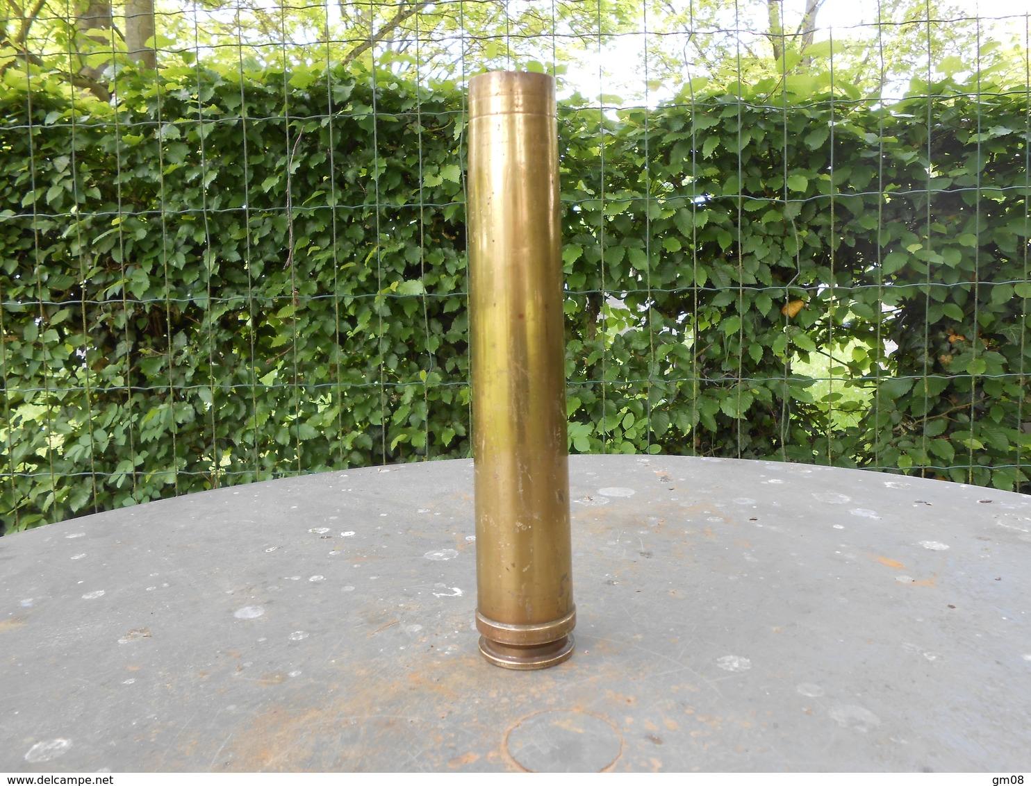 Militaria. Douille D'obus Allemand 3.7 Cm . FLAK.  1936. WW2 - Militaria