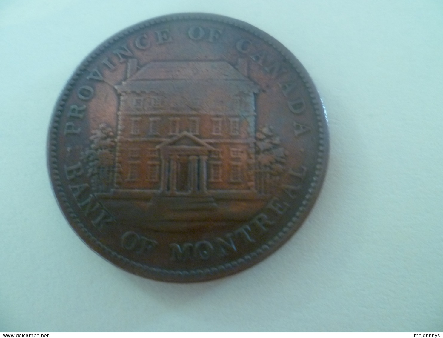 Magnifique 1 Penny 1842 Province Of Canada Bank Of Montreal - Canada