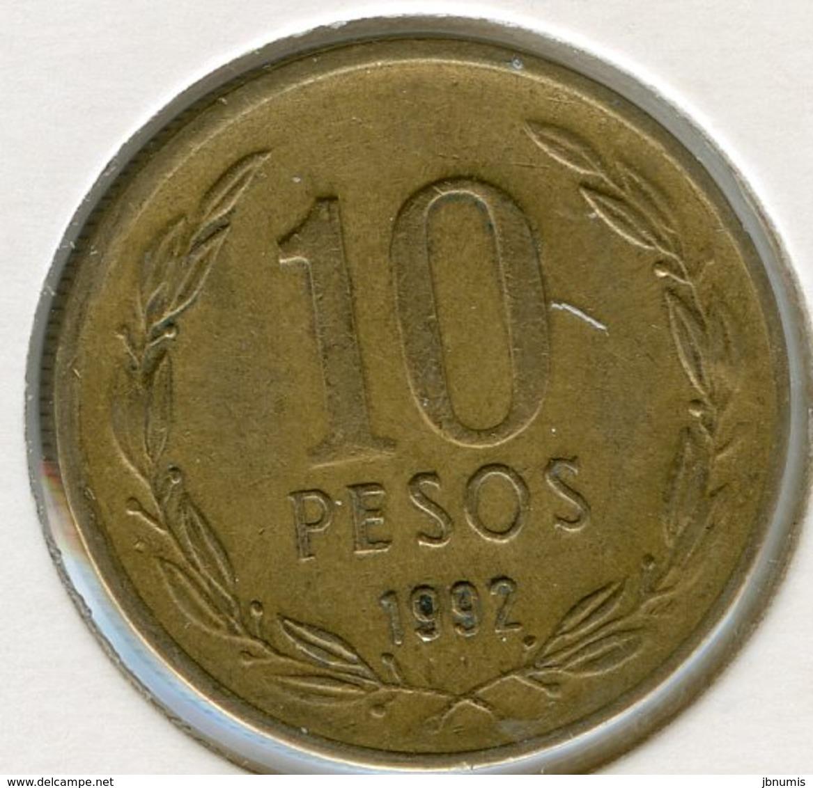 Chili Chile 10 Pesos 1992 KM 228.2 - Chili