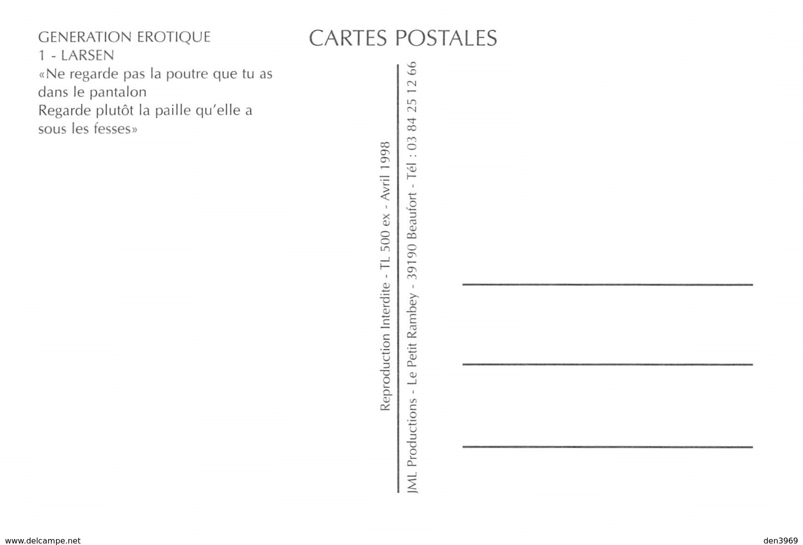 LARSEN - Pin-Up Dessinée - Lingerie - Bas Porte-Jarretelles - Body - Champagne - Pin-Ups