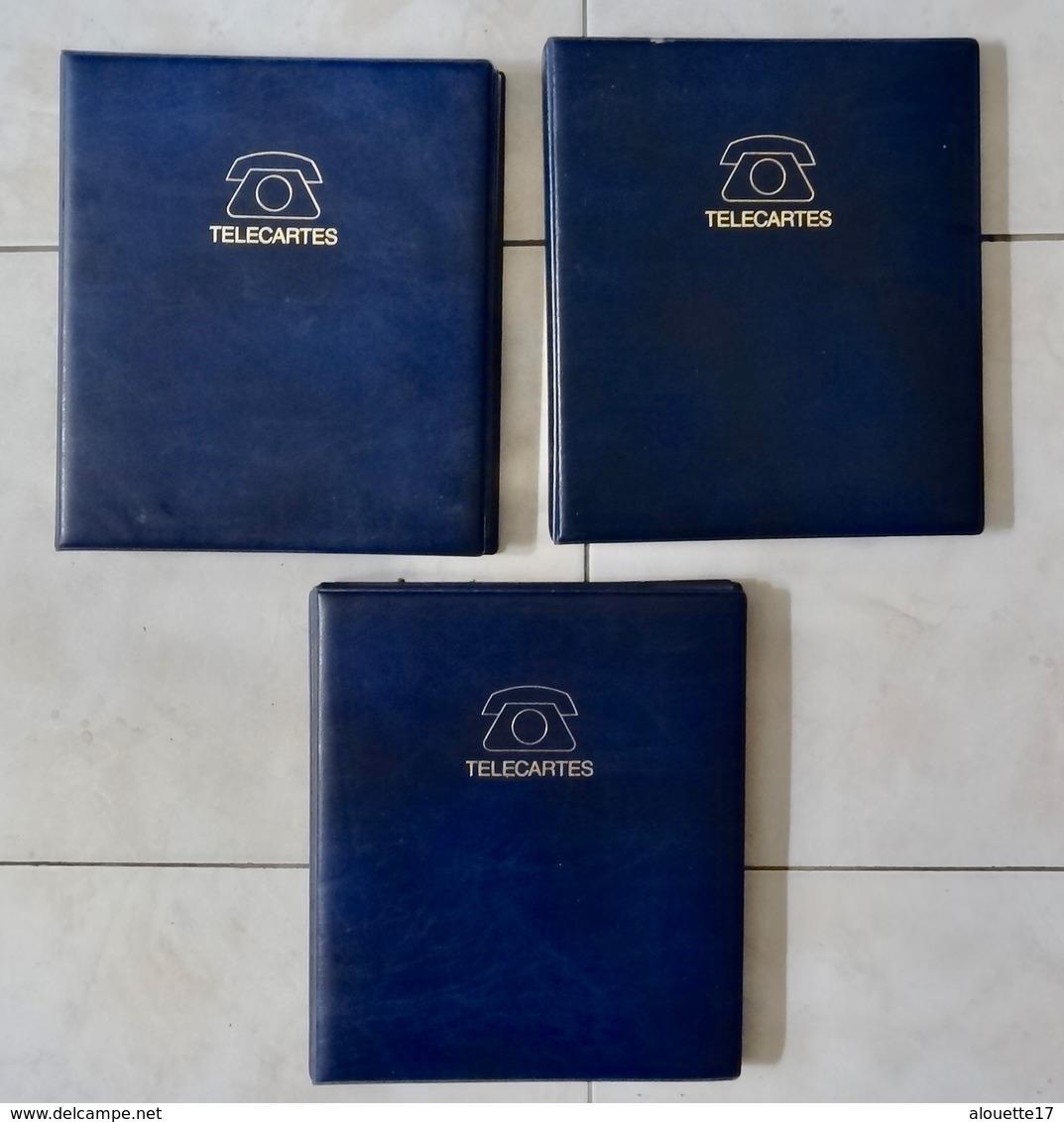 LOT 3 ALBUMS POUR TELECARTES - Télécartes