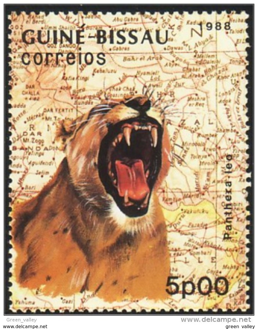 406 Guinée Bissau Lion Panthera Mint MNH ** Neuf SC (GBI-37a) - Other
